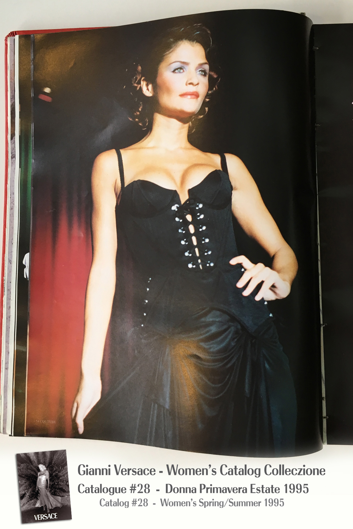 Helena Christensen Gianni Versace Donna Collezione Primavera Estate Woman's Spring Summer Thierry Perez Runway Models Catalog Fashion Supermodels #28, 1995
