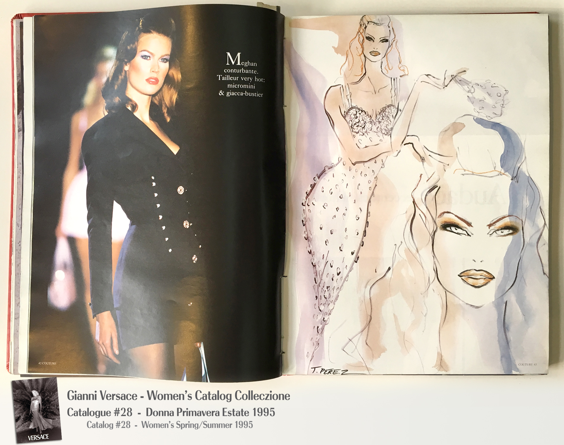 Meghan Douglas Gianni Versace Donna Collezione Primavera Estate Woman's Spring Summer Thierry Perez Runway Models Catalog Fashion Supermodels #28, 1995