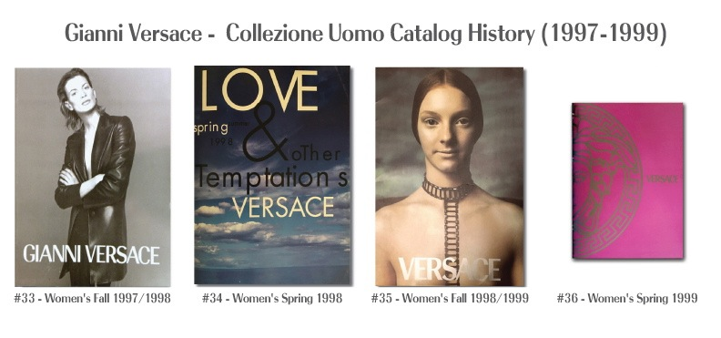 Gianni Versace Fashion Catalog Covers History Donna Woman's 1997 - 1999 Models Photography supermodels 90's