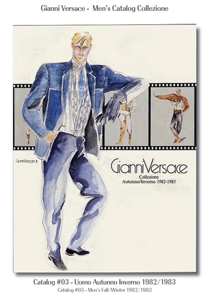 Gianni Versace UOMO Collezione Autunno Inverno Mens Fall Winter Catalog #03, 1982/1983 Models Fashion