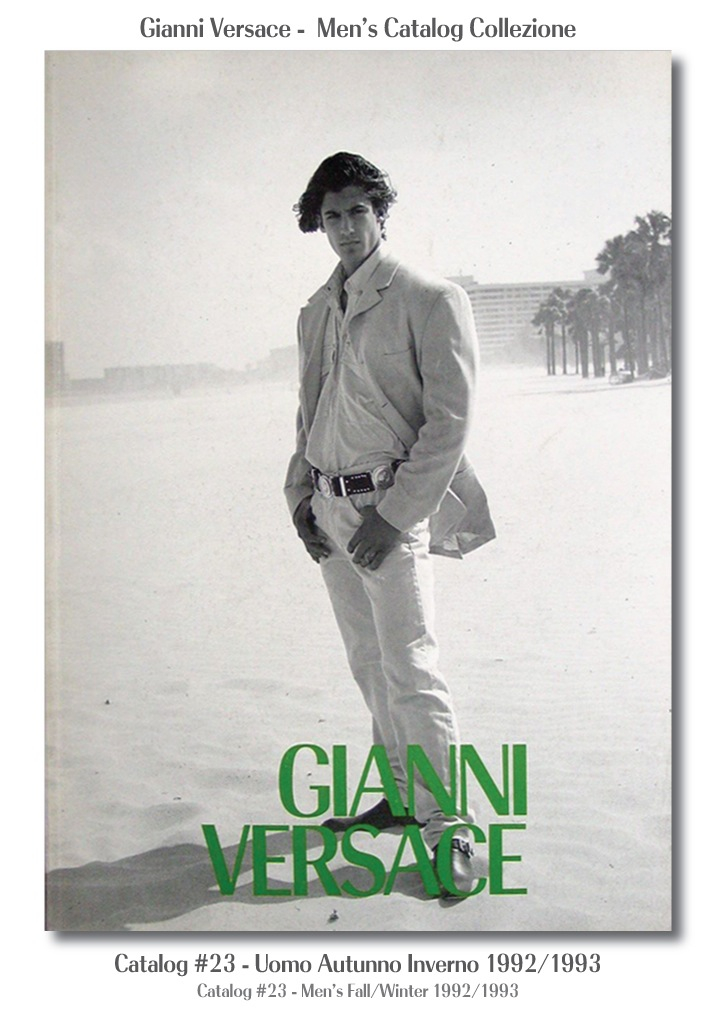 Gianni Versace UOMO Collezione Autunno Inverno Mens Fall Winter Catalog #23, 1992/1993 Miami South Beach Models Fashion