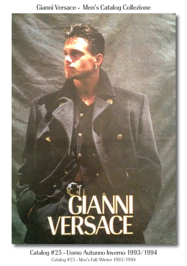 Gianni Versace UOMO Collezione Autunno Inverno Mens Fall Winter Catalog #25, 1993/1994 Models Fashion