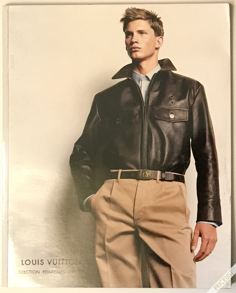 Louis Vuitton Fashion Catalog Spring Summer Men Women RTW Cover Printemps Ete Paris Marc Jacobs 2004 Bomber leather jacket