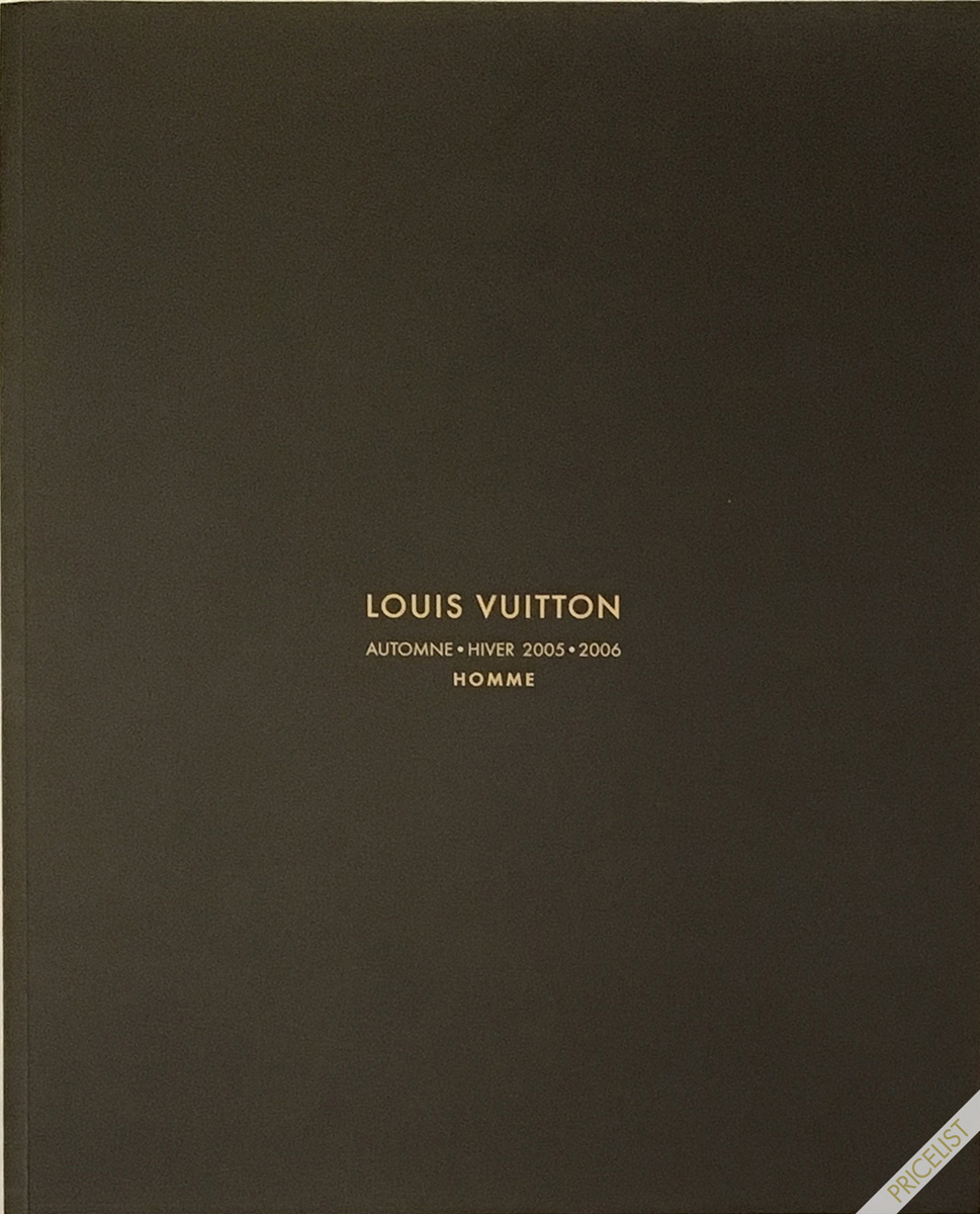 Louis Vuitton Paris Fashion Catalog Fall Winter Pret a Porter Ready to Wear RTW Cover Automne - Hiver Marc Jacobs Men Homme 2005 - 2006