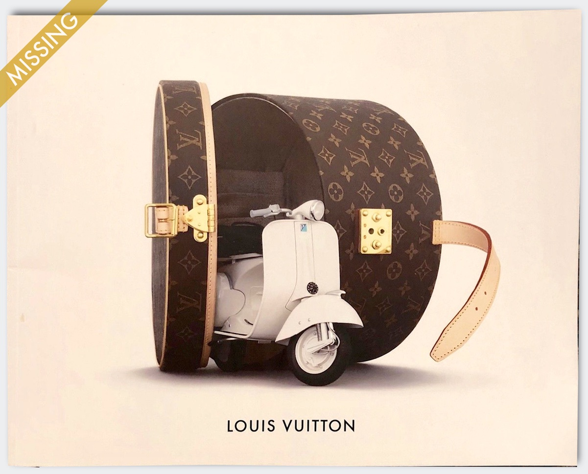 Louis Vuitton Paris Accessories Catalog Maroquinerie Vespa Scooter Hatbox Men Women RTW Cover Marc Jacobs Monogram Damier Epi Taiga Nomade Belts Bracelets Jewelry Supreme 2006
