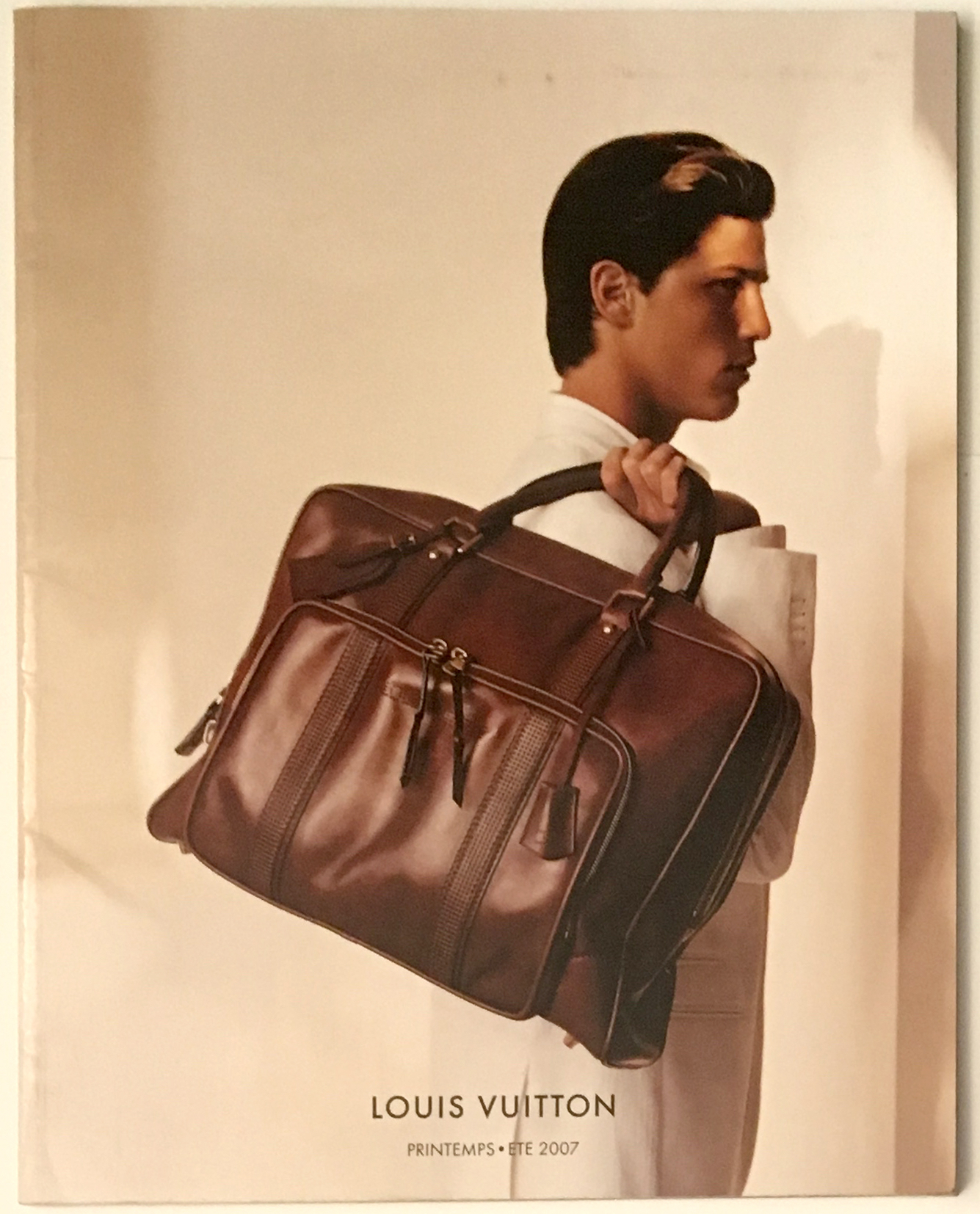 Louis Vuitton Fashion Catalog Spring Summer Men Women RTW Cover Printemps Ete Paris Marc Jacobs 2007 Utah Leather Carry on bag