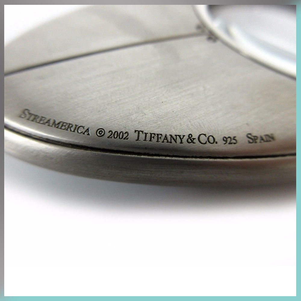 Magnifier Magnifying Glass Desk Tiffany & and Co. Streamerica Sterling Silver Collection 2002 .925 Side Markings detail