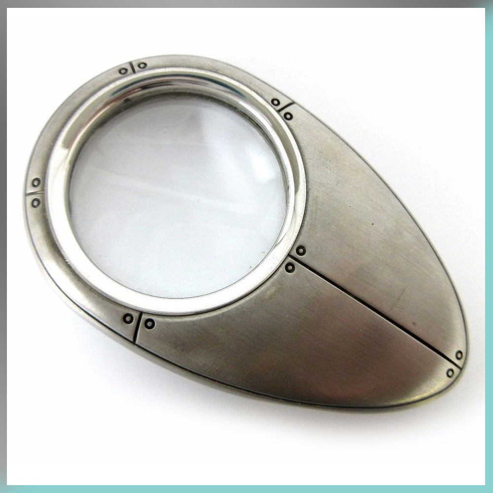 Magnifier Magnifying Glass Desk Tiffany & and Co. Streamerica Sterling Silver Collection 2002 .925 Front